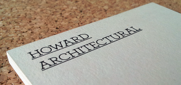 Howard Architectural Business card front
