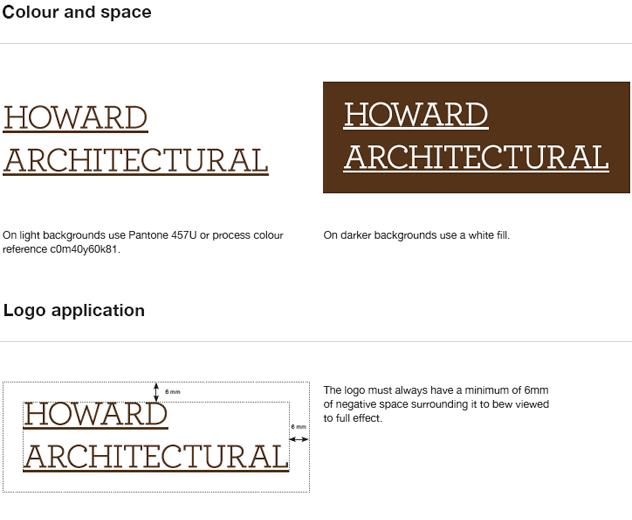 Howard Architectural brand guidelines