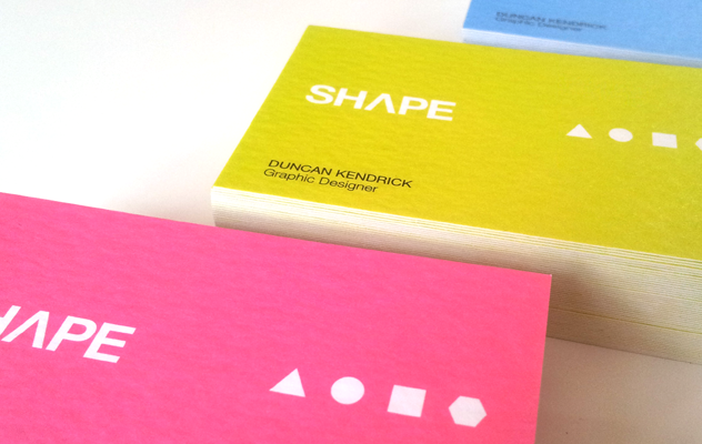 Shape business card designs